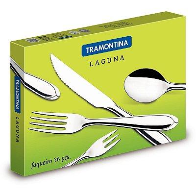 Faqueiro Tramontina Inox C/ Facas P/ Churrasco Laguna 36 Pç