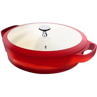 Caçarola Rasa Le Cook C/ Pegadores de Silicone Red Collection 24cm