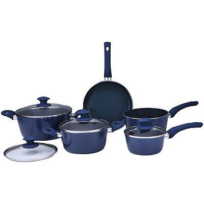 Jogo de Panelas Class Home Alumínio Ceramic Class 5 Pç Azul