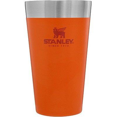 Copo Térmico Stanley Inox P/ Cerveja S/ Tampa 473ml Laranja