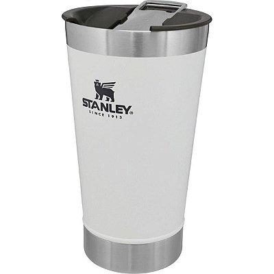 Copo Térmico Stanley Inox C/ Tampa e Abridor 473ml Branco