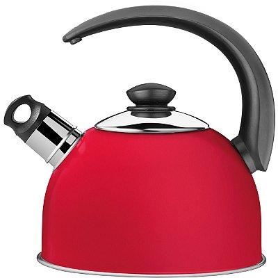 Chaleira Tramontina Inox C/ Apito Coffee & Tea 2,1L Vermelho