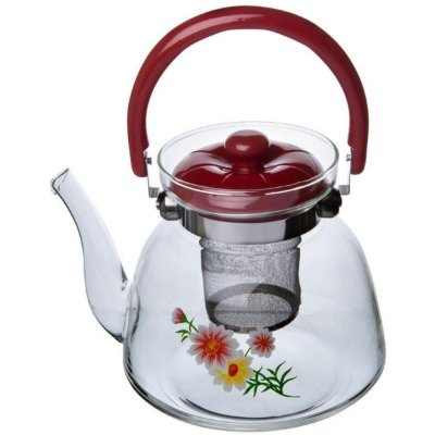 Chaleira GP Inox Vidro C/ Infusor Tea & Coffee 1,6L