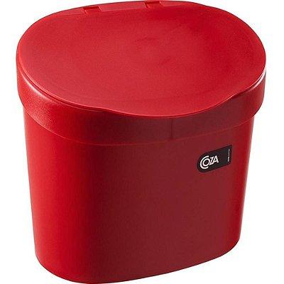 Lixeira para Pia 4 Litros Vermelha Coza