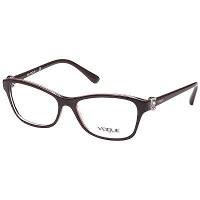 1ce8336abbb69 Óculos de Grau Vogue VO5167L Rosa Brilho Feminino - Óculos de Grau ...
