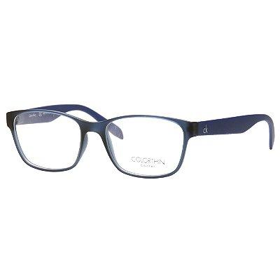 eb3a86381cffc Óculos de Grau Calvin Klein CK5890 Azul Translúcido Fosco Acetato Médio