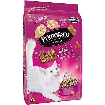 Ração primogato blend premium - Sabor carne frango e peixe 10,1kg