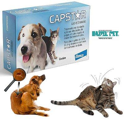 Capstar cães e Gatos - Até 11,4kg 1 Comprimido