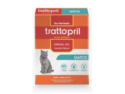 Trattopril gatos - Pipeta antipulgas para gatos
