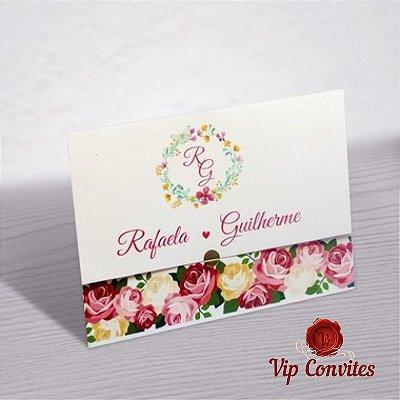 Convite Casamento Flowers