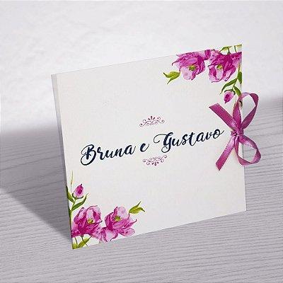 Convite Casamento Floral Bruna