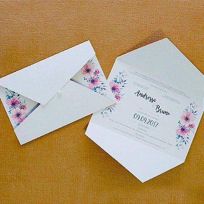 Convite Casamento Floral Andressa