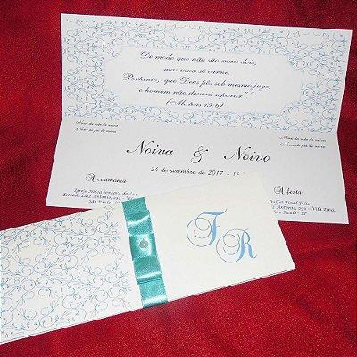 Convite Casamento Clássico Canadá