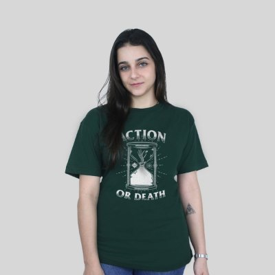 Camiseta Action Clothing Action Or Death Musgo