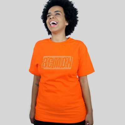 Camiseta Action Clothing Lines Laranja