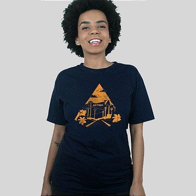 Camiseta Action Clothing Sunset Blvd Azul Marinho