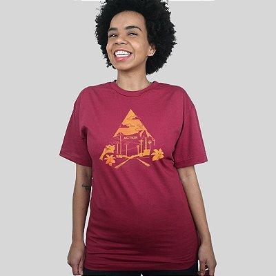 Camiseta Action Clothing Sunset Blvd Vinho