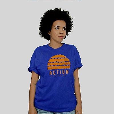 Camiseta Action Clothing Gradient Royal
