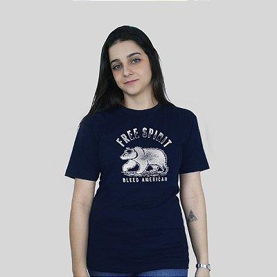 Camiseta Bleed Free Spirit Marinho