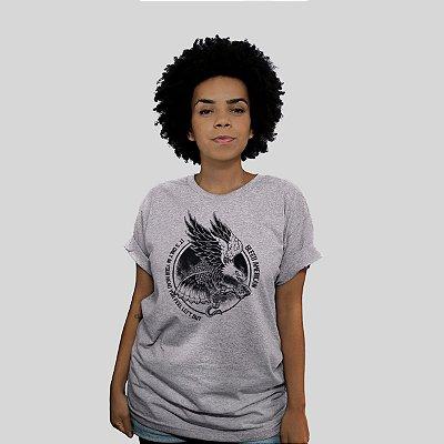 Camiseta Bleed Eagle Cinza Mescla