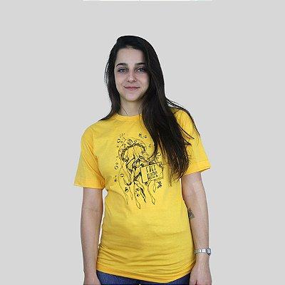 Camiseta Bleed Free Hugs Amarelo