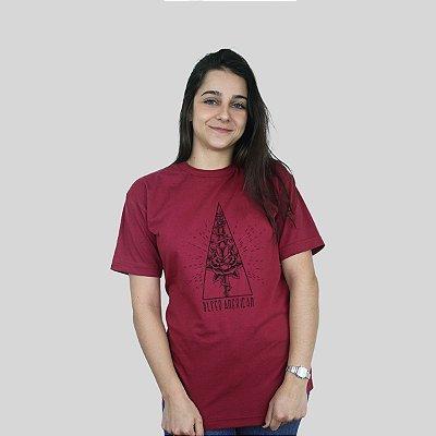 Camiseta Bleed Death Rose Vinho