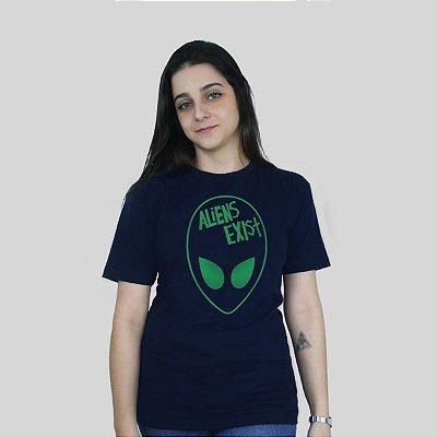 Camiseta 182Life Aliens Exist Marinho