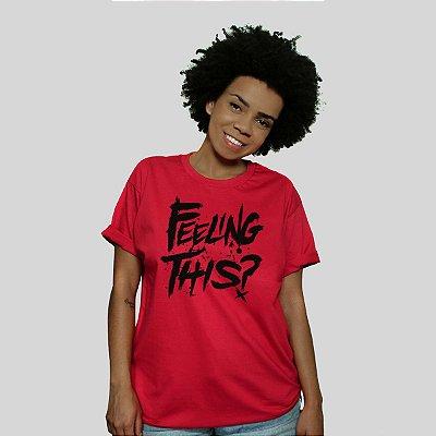 Camiseta 182Life Feeling This Vermelha