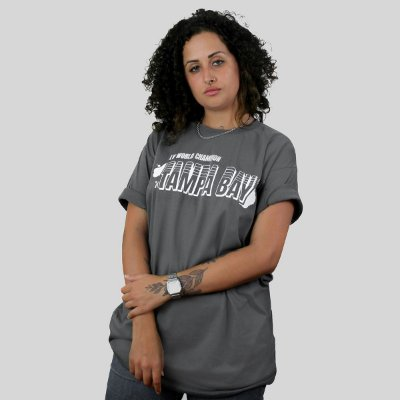 Camiseta The Fumble Champs Tampa Bay Chumbo