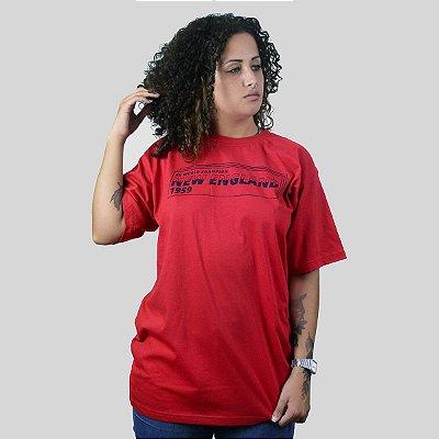 Camiseta The Fumble Division New England Vermelho
