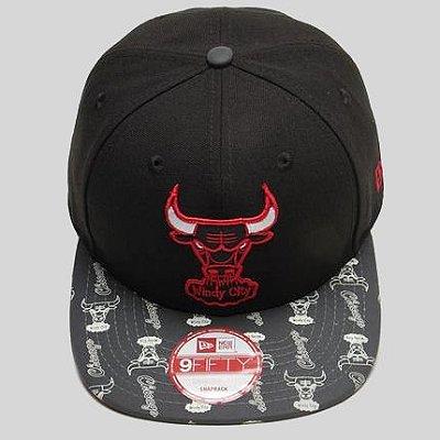 Boné New Era Snap Back NBA Chicago Bulls Print