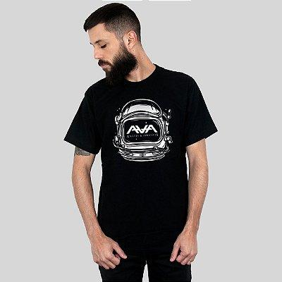 Camiseta Action Clothing Space Head Preta
