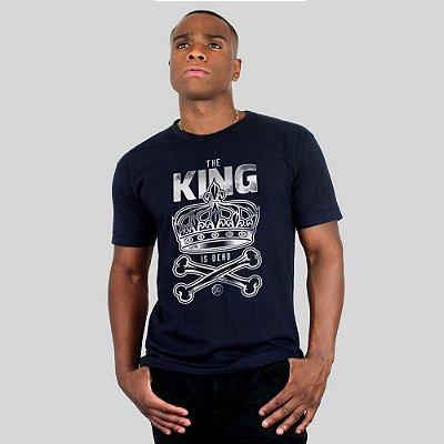 Camiseta Bleed King Is Dead Marinho