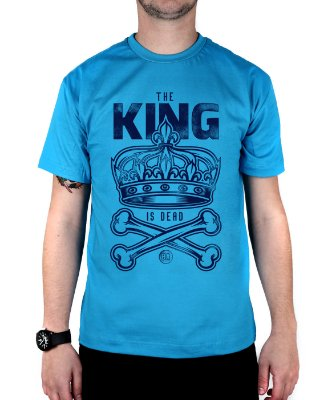 Camiseta Bleed King Is Dead Turquesa