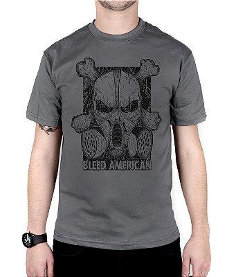 Camiseta Bleed Gas Mask Chumbo