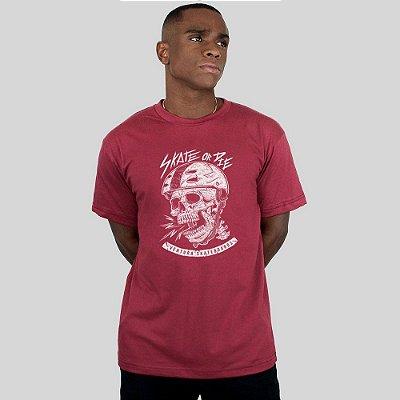 Camiseta Ventura Skate Or Die Vinho