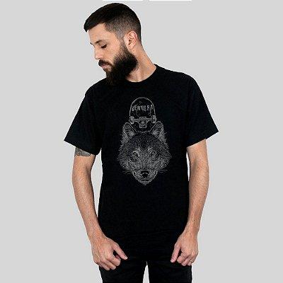 Camiseta Ventura Wolfskater Preta