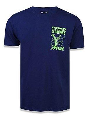 Camiseta NFL New Era Seattle Seahawks Marinho