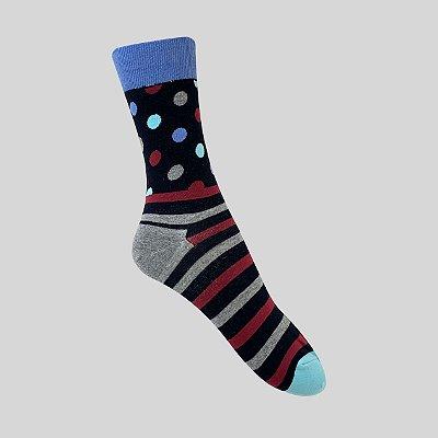 Meia Really Socks Dot Stripe Marinho
