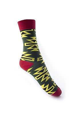 Meia Really Socks Shapes Amarelo