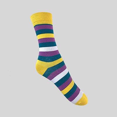 Meia Really Socks Stripes Amarelo