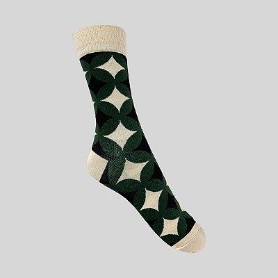 Meia Really Socks Shapes Verde