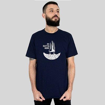 Camiseta Bleed Outta Here Azul Marinho