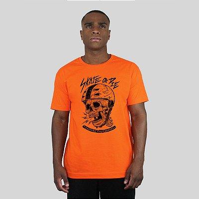 Camiseta Ventura Skate Or Die Laranja