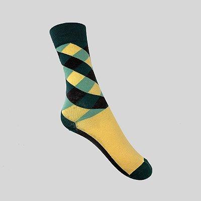 Meia Really Socks Patchwork Laranja