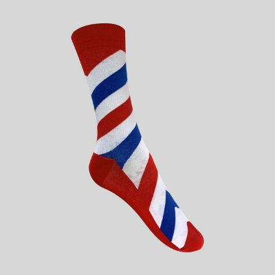 Meia Really Socks Zig Stripe Barber Pole