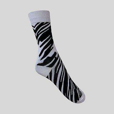 Meia Really Socks Animal Print Zebra 1