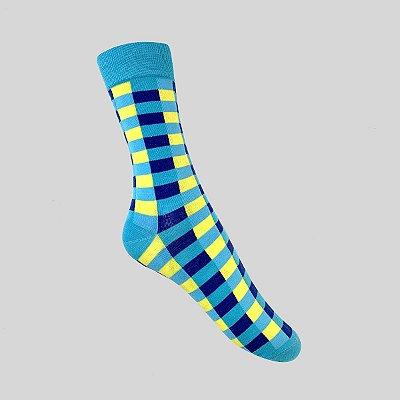 Meia Really Socks Blue Square