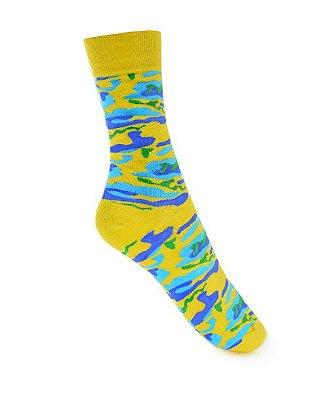 Meia Really Socks Camo Amarelo