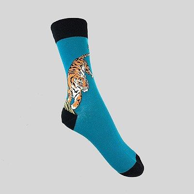 Meia Really Socks Animals  Tiger